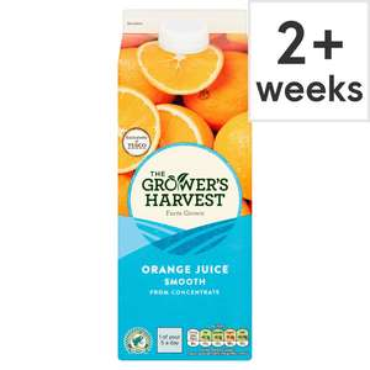 Growers Harvest Orange Juice Smooth or Pure Apple Juice 2 Litre £1.35 @ Tesco