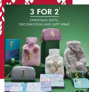 3 for 2 on all Christmas gifts, decorations and gift wrap at matalan prices start at £1