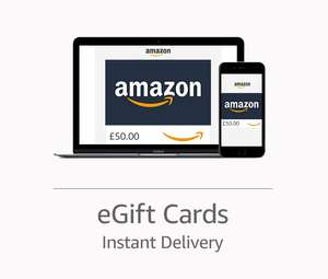 Amazon - Get a £6 promo code with a £50 or more Gift Card purchase - (Account specific)