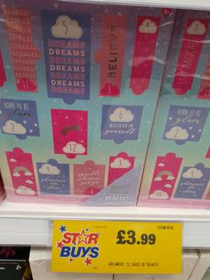 Dreamers 12 days of beauty Advent £3.99 @ HomeBargains (Bootle)