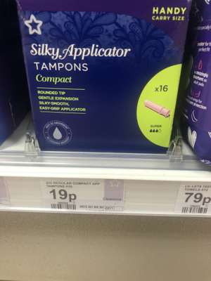 Silky compact Tampons 16 pack 19p in Superdrug