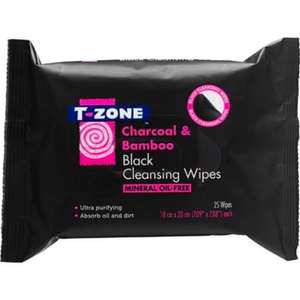 T-Zone Charcoal & bamboo face wipes for 30p @ Superdrug