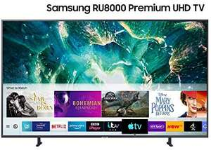 """Samsung UE55RU8000 55"""" 4K UHD TV with HDR10+, Apple TV and One Remote Control £579 - Sold by Crampton And Moore and Fulfilled by Amazon"""