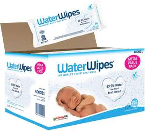 WaterWipes Baby Wipes Sensitive Newborn Skin, 720 Wipes £20.49 / £16.02 via Subscribe and Save @ Amazon