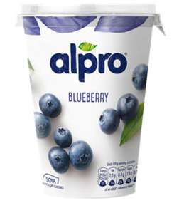 Alpro Vanilla, Blueberry & Plain dairy-free Yogurts (500g) - £2 for 2 @ Asda