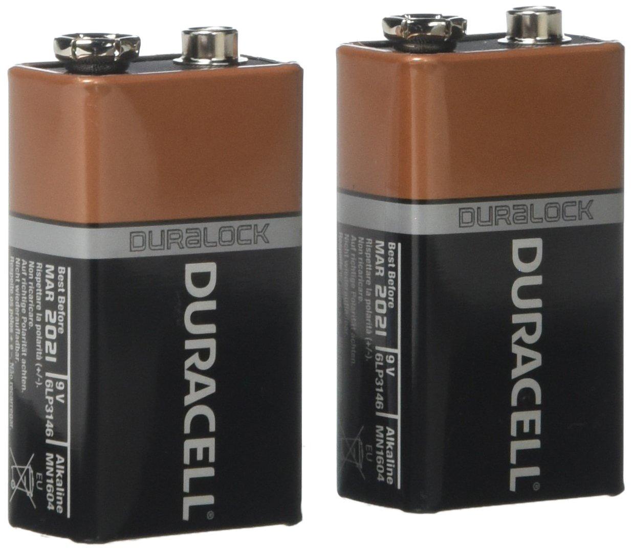 Duracell 9V batteries pack of 2 @ ASDA (Wakefield)