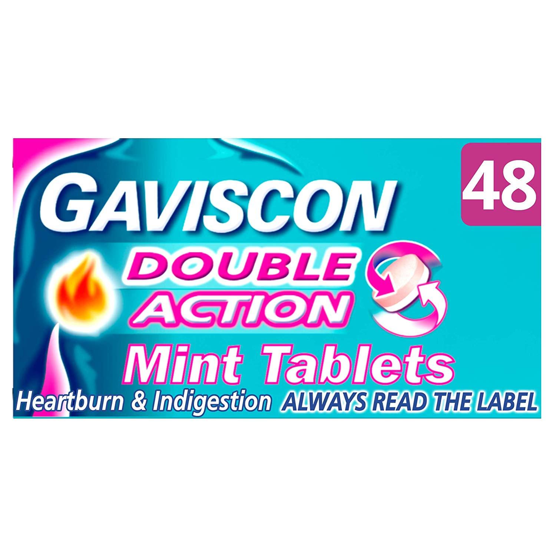 Gaviscon Double Action Tablets - 48 Pack - £5.10 @ Amazon (£4.84 S&S)