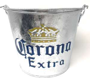 Corona Extra Embossed Galvanised Ice Bucket 'Cubo' £1.19 @ amazon Prime Now (+£3.99 Delivery)