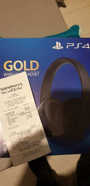 Sony Gold Wireless Headset £49.99 instore at Sainsbury's (Oldham)