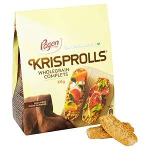 Pagen Wholegrain Krisprolls 225G - £1 @ Tesco