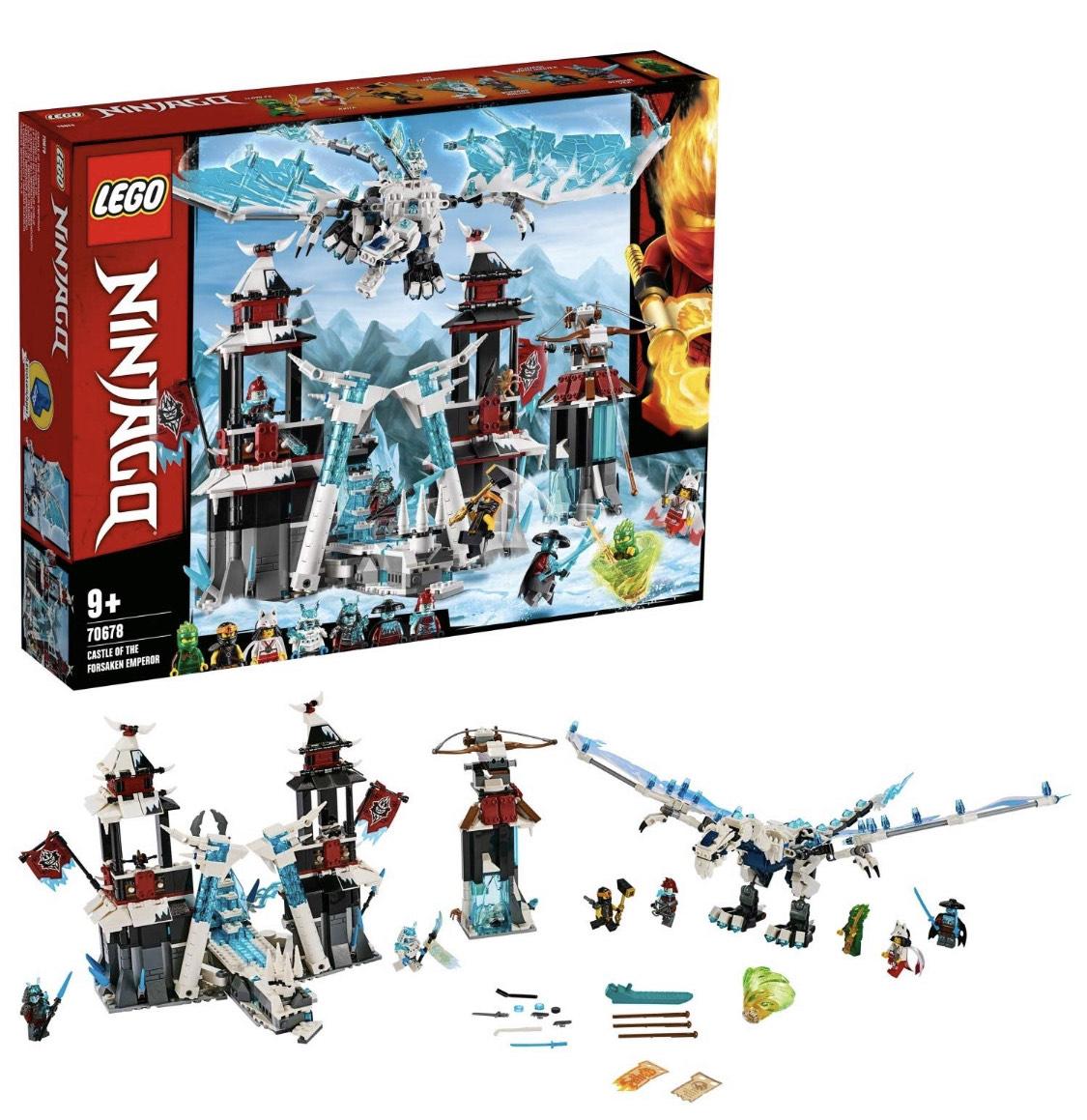 LEGO 70678 NINJAGO Castle of the Forsaken Emperor Set with Ice Dragon Toy, Masters of Spinjitzu Playset £61.60 @ Amazon
