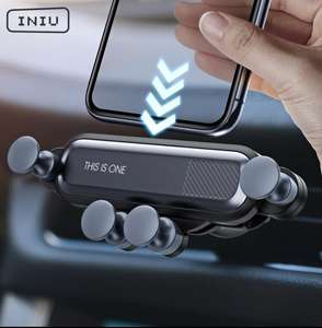 Car Holder For Phone in Car Air Vent Clip Mount Mobile Phone Holder GPS Stand - £2.60 @ AliExpress / INIU Store