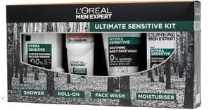 L'Oreal Men Expert Ultimate Sensitive Gift Set For Him: Face Wash, Shower Gel, Moisturiser & Deodorant @ Amazon - £9 Prime / £13.49 nonPrime