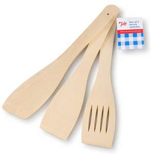Tala FSC Beech Wood Cooking Spatulas – Set of 3 for 85p @ Robert Dyas (Free Click + Collect)