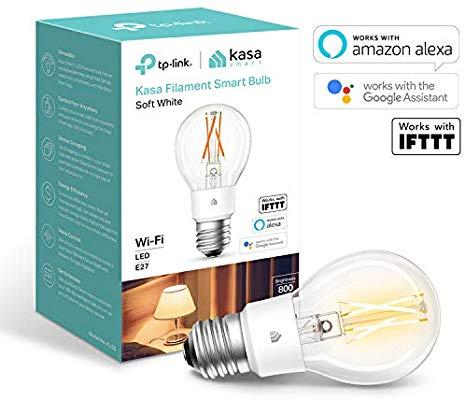 Kasa Smart Bulb by TP-Link, WiFi Filament Light Bulb, E27, 7W, £10.99 + £4.49 delivery Non Prime @ Amazon