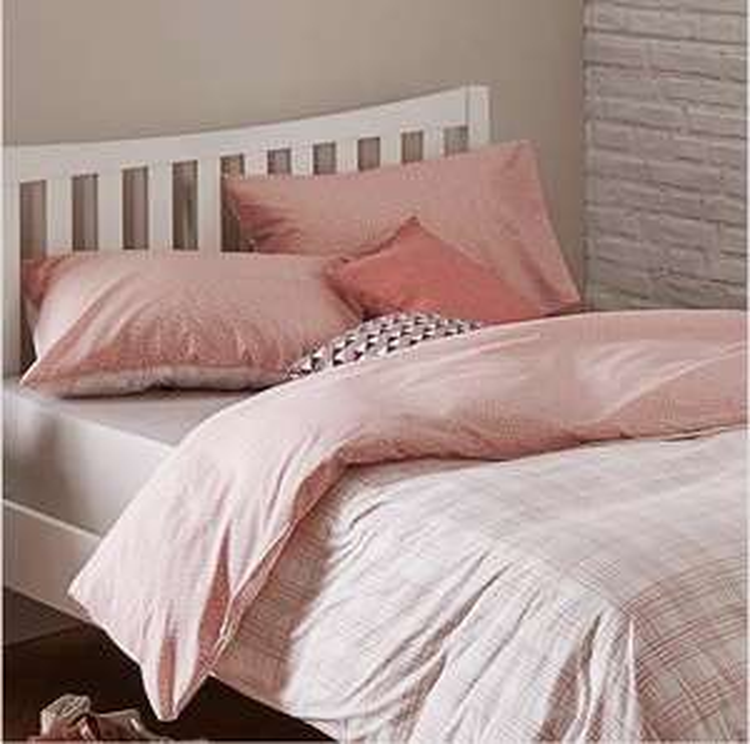 Bella Blush Reversible Duvet Cover and Pillowcase Set £6 @ Dunelm