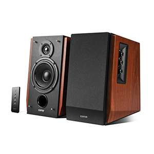 Edifier R1700BT Bookshelf Active Speakers with Bluetooth, RCA/AUX Input, EQ Control and Remote Control - Brown @ Amazon.de delivered