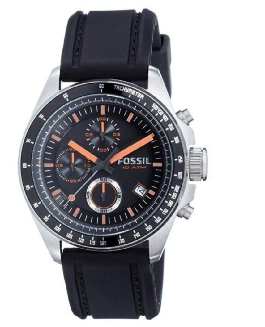 Fossil Men's Chronograph Quartz Watch with Silicone Strap CH2647 £56 @ Amazon