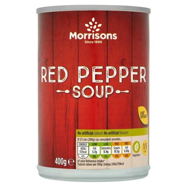 Morrisons 400g Roasted Red Pepper Soup 38p ( 13 other varieties ) @ Morrisons