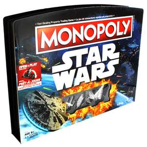 Monopoly Star Wars Open and Play Game Case £15 using code @ The Works (Click & Collect)