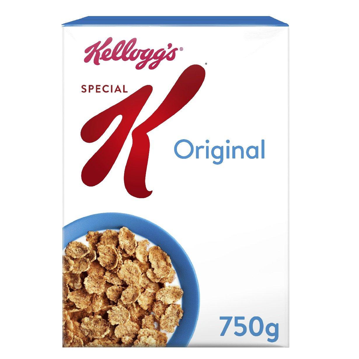 Kellogg's special k 750g £1.80 (£15 minimum spend +£3.99 del) @ Amazon prime now
