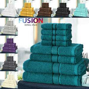 8pc Towel Bale Set 100% Egyptian Cotton 500gsm - choice of 8 Colours - £11.79 Delivered @ eBay - fusion_online