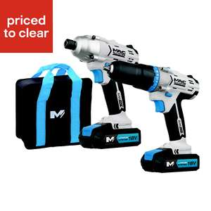 Impact driver and combi drill pack, Mac Allister, £60 at B&Q Crewe
