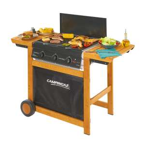Campingaz Gas BBQ Adelaide 3 Woody, 3 Burner Gas Barbecue Grill £79.11 - Amazon