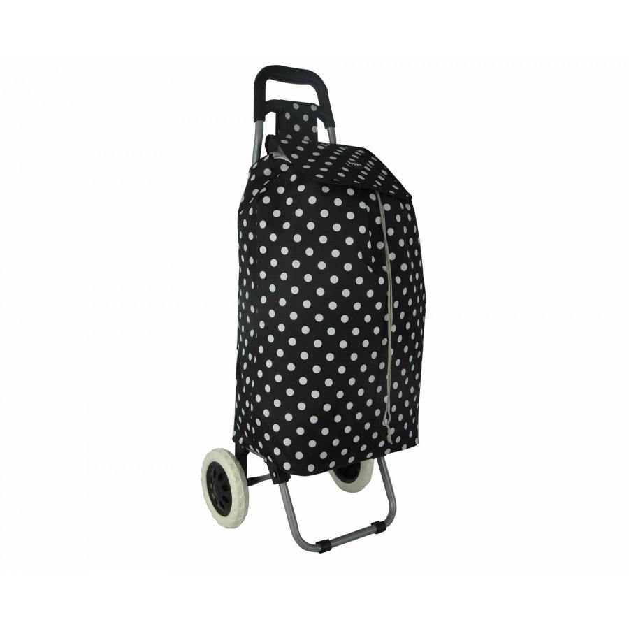 Hoppa Lightweight Shopping Trolley - Black/Black& White - Free C&C - £9.99 @ Ryman