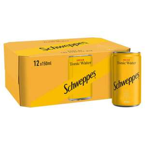 Lot of tonic water reduced - Schweppes 12 x 150ml cans £1.75 at Asda Feltham