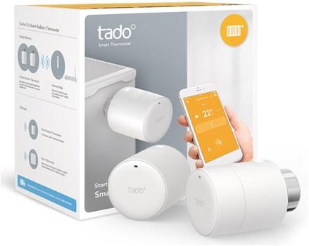 Tado Smart Radiator Thermostat Horizontal Starter Kit V3 Twin Pack - Includes 2 radiator thermostats & V3 internet bridge £99.99 @ Box