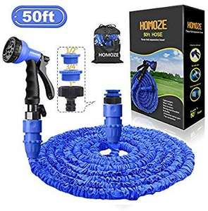 Homoze 50 foot Expandable Hose - £10.91 prime / £15.40 non prime Sold by HOMOZE and Fulfilled by Amazon - Lightning Deal