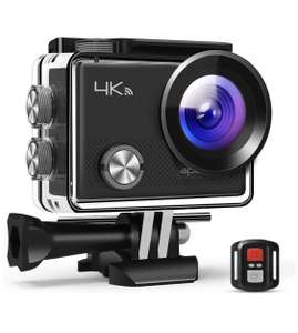 Action Camera 4K 20MP WiFi Waterproof 30M with Remote Control £31.99 Sold by ApemanStore and Fulfilled by Amazon.