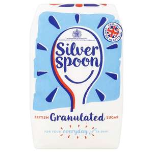 1kg silver spoon granulated sugar 65p @ tesco