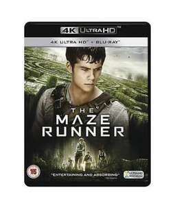 (4K Ultra HD + Blu-ray) The Maze Runner - £5.04 / The Maze Runner: Chapter II - The Scorch Trials - £5.01 @ Amazon (+£2.99 Non Prime)