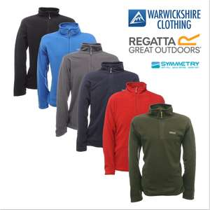 Regatta Mens Thompson Half Zip Lightweight Base Layer Fleece Pullover (Various Colours) From £8.99 Delivered @ Warwickshire Clothing eBay