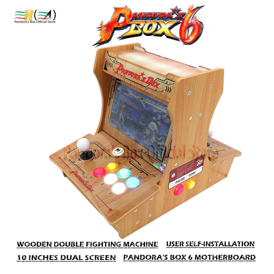 Pandora Box 6 Wooden Double screened DIY Mini arcade bartop £174.48 using promo stack @ AliExpress Deals / Pandora's Box Official