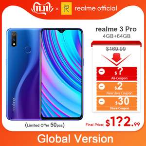 realme 3 Pro Global Version 4GB RAM 64GB ROM Snapdragon 710 AIE Moblie Phone 4045mAh Battery £109.45 AliExpress / realme Official