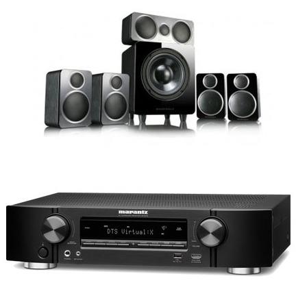 Marantz NR1609 Black AV Receiver With Heos Plus Wharfedale DX-2 5.1 Speaker Package Black - £699 @ Electric Shop