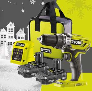 Ryobi Christmas's offer - Spend £89.99 on a starter kit and get a free tool.
