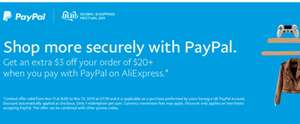 Celebrate Singles' Day with great deals on AliExpress, GET $3 OFF ORDERS $20+ WITH PAYPAL