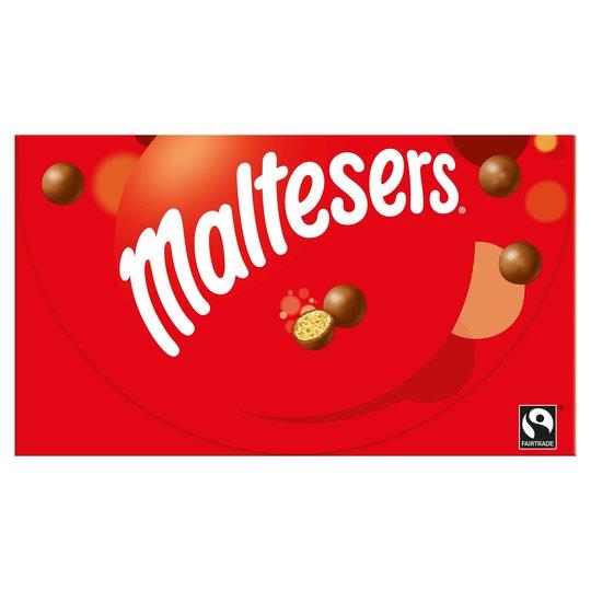 Maltesers Gift Box 310G £1.75 / Cadbury Stocking Selection Box 194G £1.50 / Tesco Musical Tree Tin with Mini Cookies - 375g £4 @ Tesco