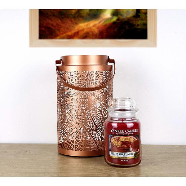 Yankee candle large rhubarb crumble jar & fall leaf lantern £20 Yankee Bundles
