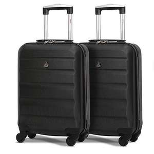 Set of 2 Aerolite (55x35x20cm) Lightweight Hard Shell Cabin Hand Luggage - All Colours £36.99 delivered @ Packed Direct
