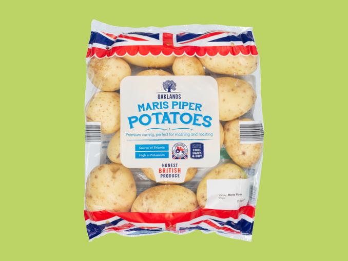 Oaklands Maris Piper Potatoes 2.5kg 99p @ Lidl from Thursday