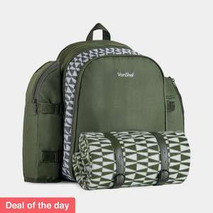 Deal of the day 4-person green Geo Picnic Backpack for £27.99 delivered @ VonShef