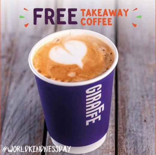 FREE takeaway union coffee or any hot drink @ Giraffe