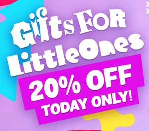 20% off gifts for little ones (children) Character.com