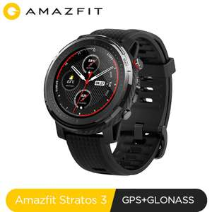 Global Version New Amazfit Stratos 3 Smart Watch GPS £134 @ Aliexpress amazfit Official Store