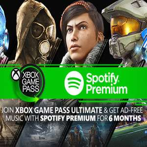 Xbox Live Ultimate Pass - 1 Month for £1 + 6 Months Free Spotify PREMIUM @ Microsoft